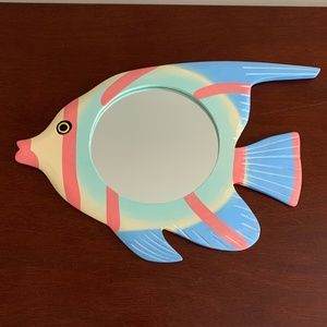 Multi Color Fish Wall Hanging Mirror